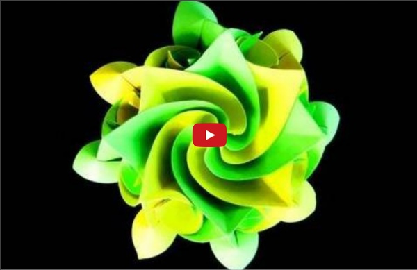 How to make an Origami Aquilegia flower