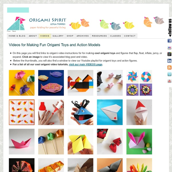 Cool Origami Toys and Action Figures, Origami instructions