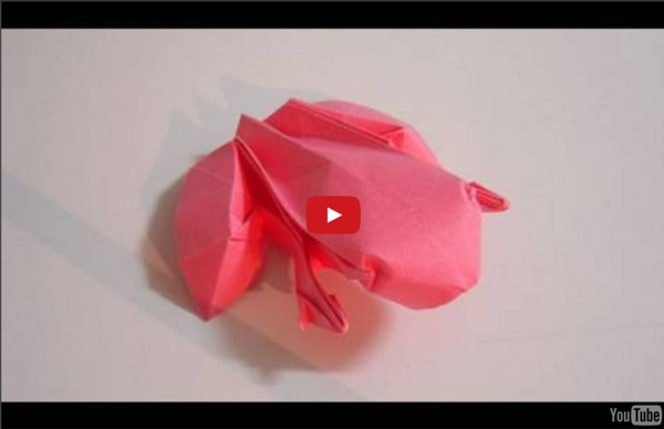Origami Frog (Ranoshi) - Sapo de origami