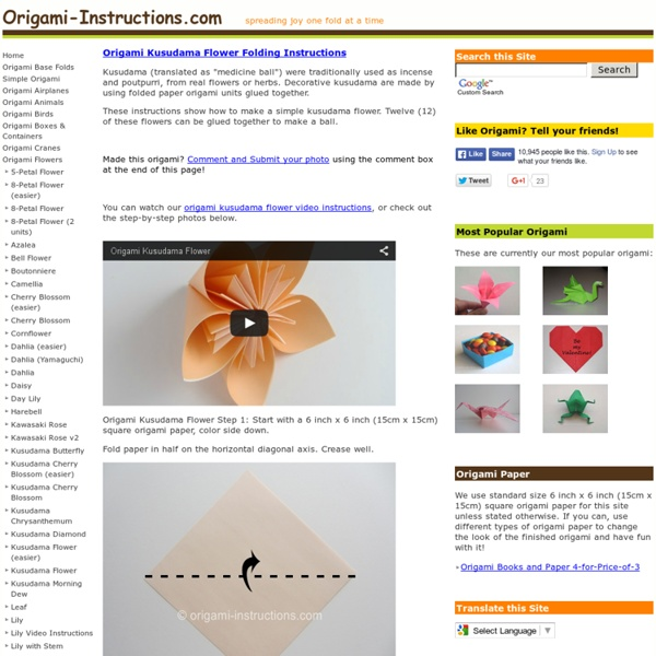Origami Kusudama Flower Folding Instructions How To Make An