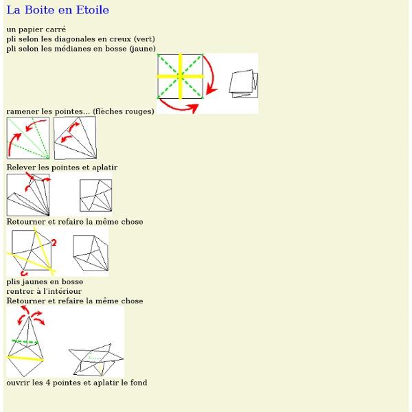 Origami la boite en etoile pearltrees - Boite cadeau origami facile ...