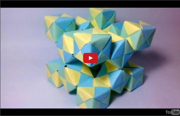 ‪Origami Moving Cubes 2 - using Sonobe units‬‏