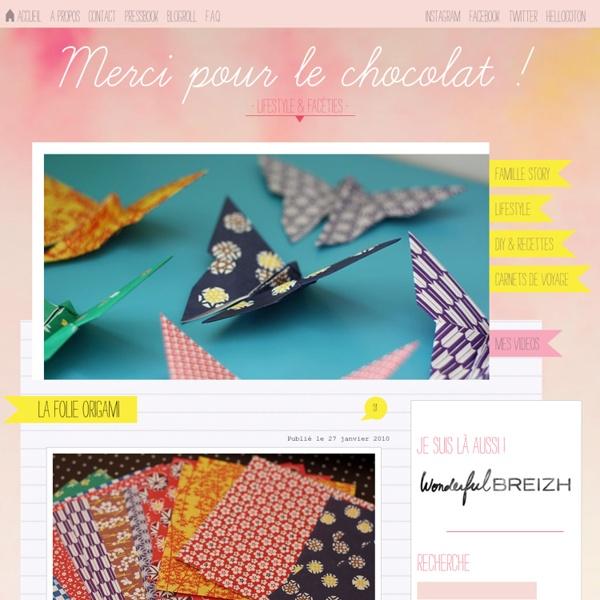 La folie origami - papillons en papier japonais