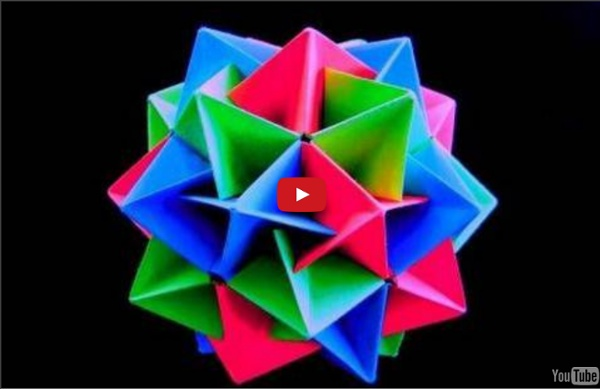 How to make an Origami Twinboat Icosahedron