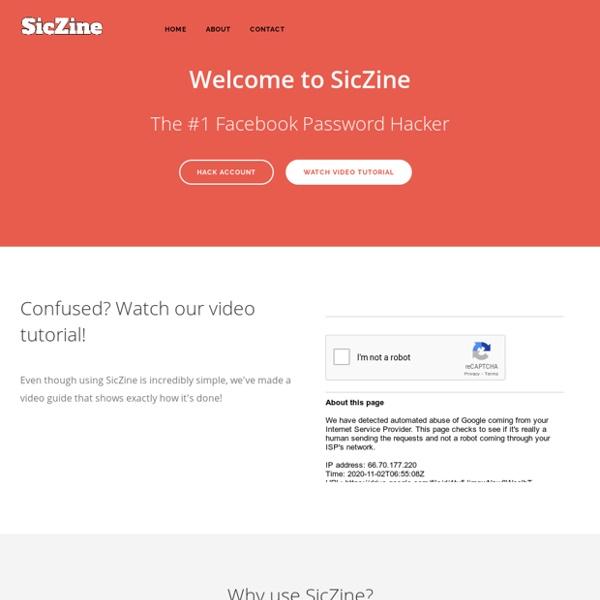 The Original SicZine Facebook Password Hacker