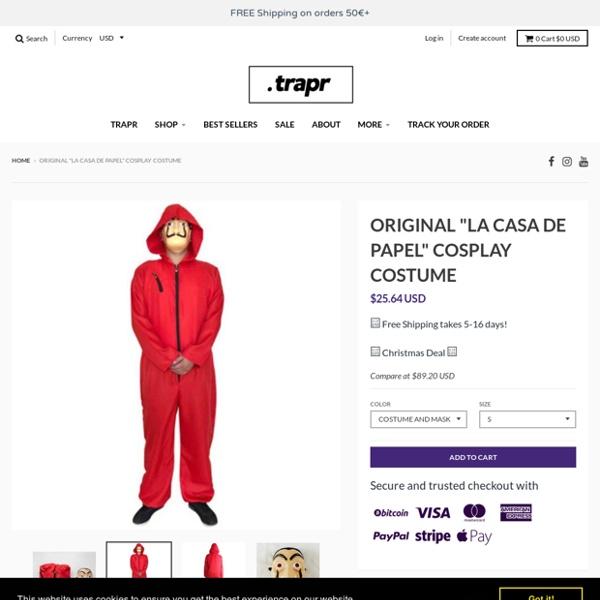 """Original """"La Casa De Papel"""" cosplay costume – trapr"""
