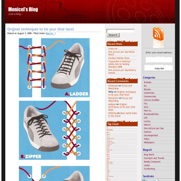 Original techniques to tie your shoe laces