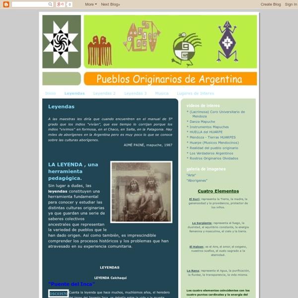 Pueblos originarios de Argentina: Leyendas