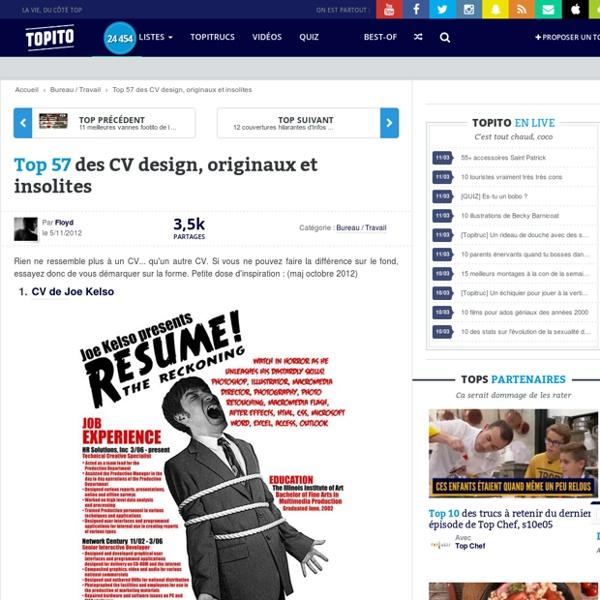 top 56 cv design  originaux et insolites et curriculum