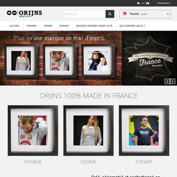 ORIJNS Vêtements Made in France