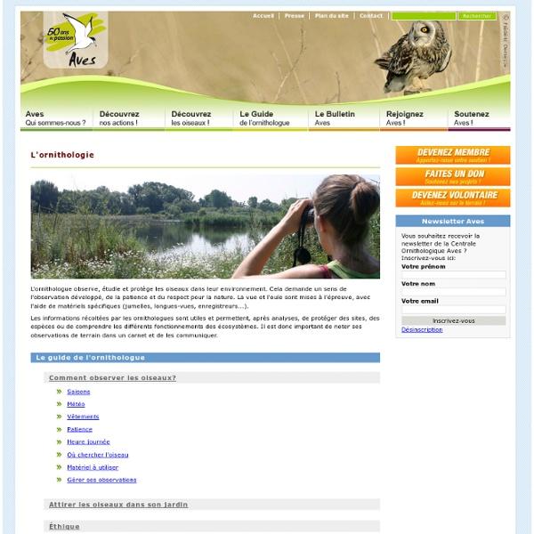 Le guide de l'ornithologue: Guide de l'ornithologue : Aves, pôle ornithologique de Natagora, association de protection de la nature