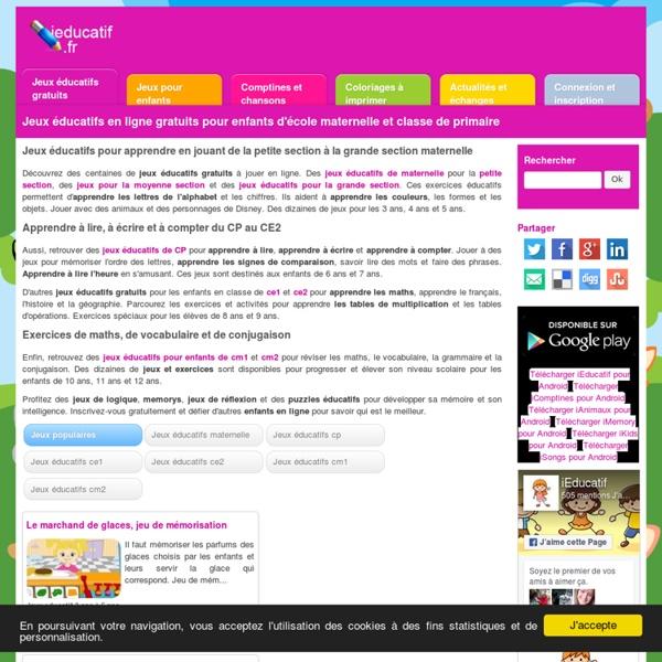 Jeux educatifs maternelle et primaire gratuits en ligne ...