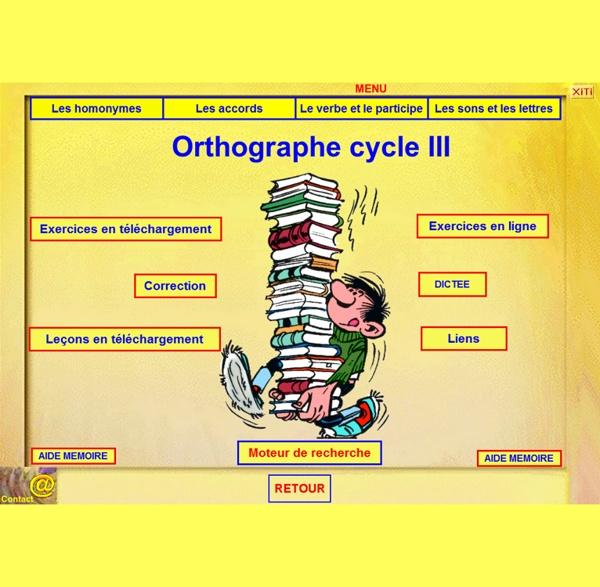 ORTHOGRAPHE CYCLE III