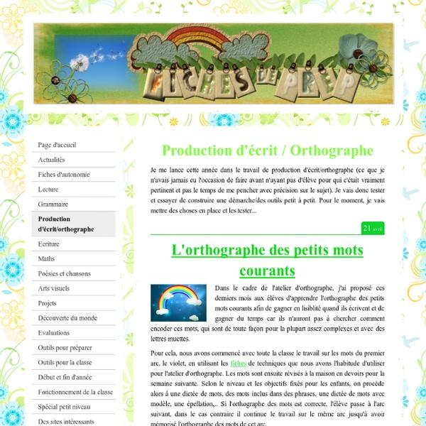 Production d'écrit/orthographe