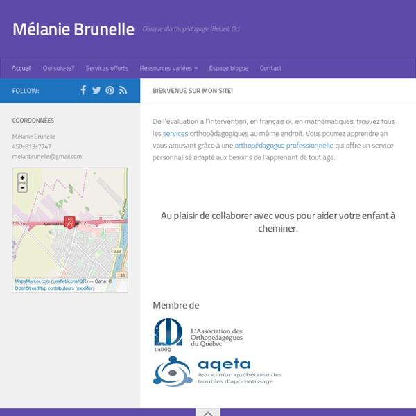 Bienvenue - Mélanie Brunelle