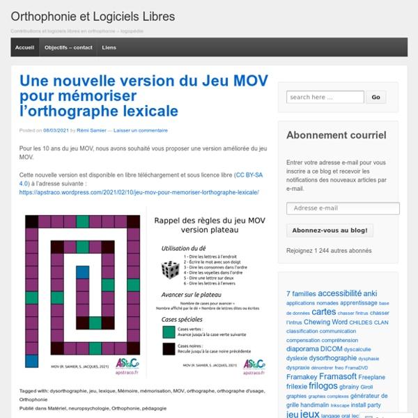 Contributions et logiciels libres en orthophonie – logopédie
