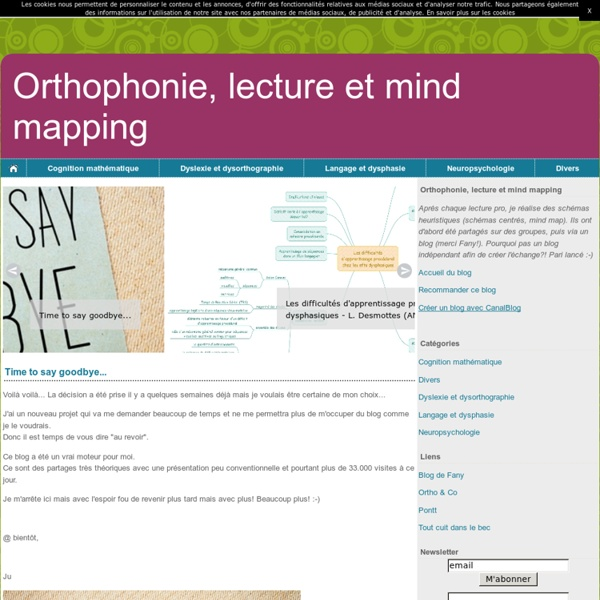 Orthophonie, lecture et mind mapping