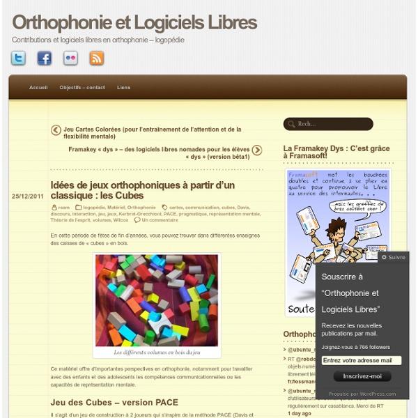 Idées de jeux orthophoniques à partir d'un classique : les Cubes