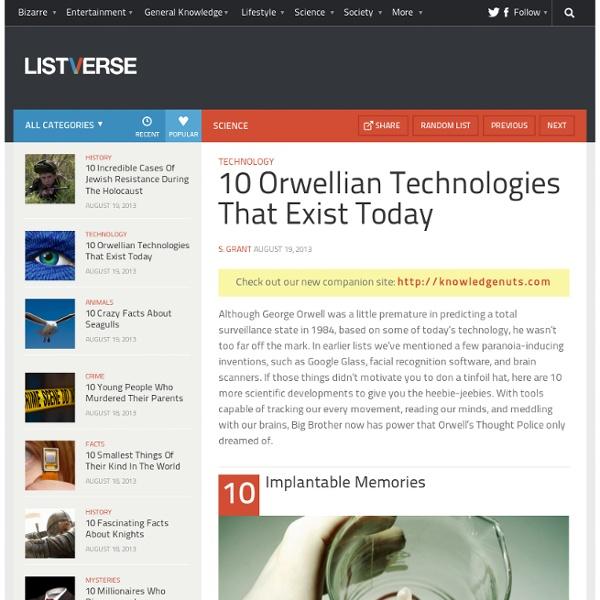 10 Orwellian Technologies That Exist Today