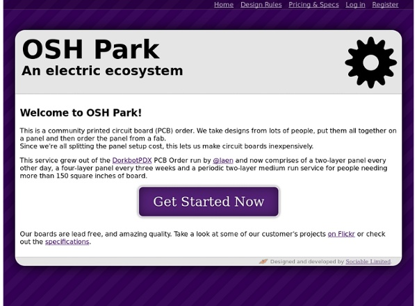 OSH Park ~ Welcome
