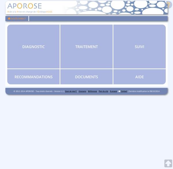 Aide à la Prise en charge de l'OstéopoROSE en soins primaires