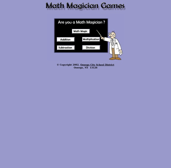 Oswego City School District Math Games