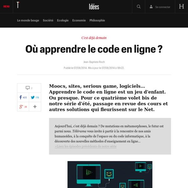 Où apprendre le code en ligne ? - Idées