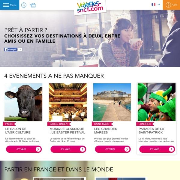 Séjour en France : Les bons plans pour vos vacances en France avec Voyages-sncf.com