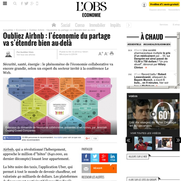 Oubliez Airbnb : l'économie du partage va s'étendre bien au-delà - L'Obs