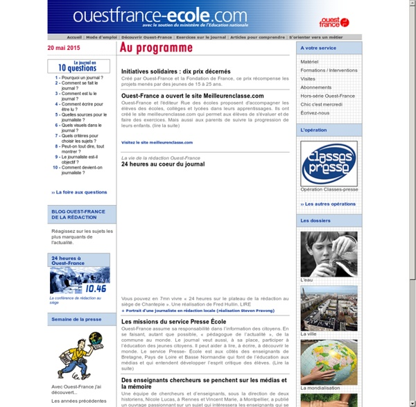 OuestFrance - Ecole