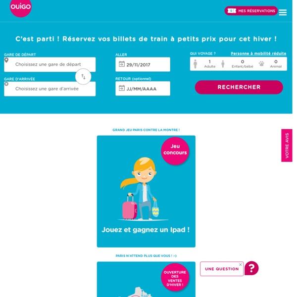 OUIGO par SNCF : TGV low cost à partir de 10 €