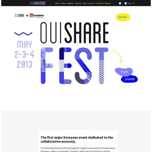 OuiShare Fest 2014: The Age of Communities.