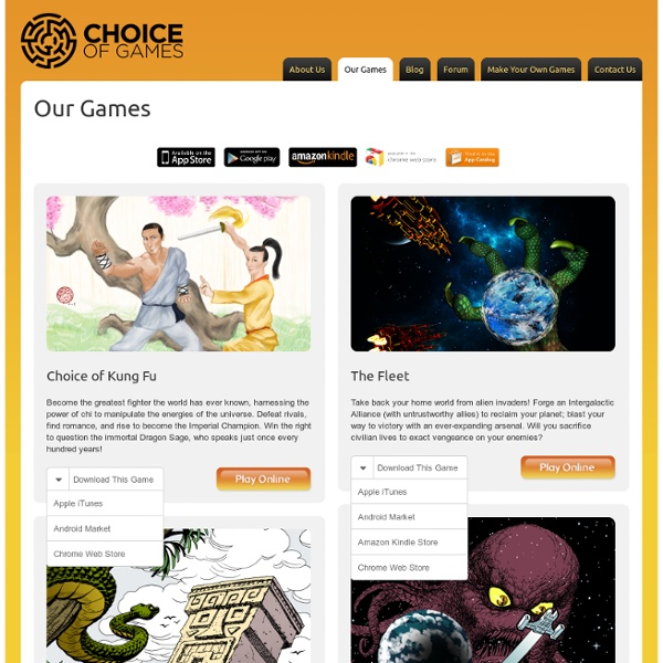 Our Games Archive - Choice of Games
