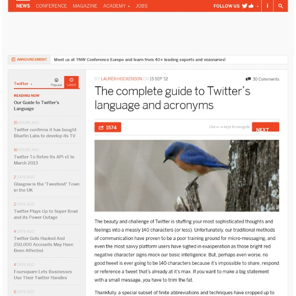 Our Guide to Twitter's Language