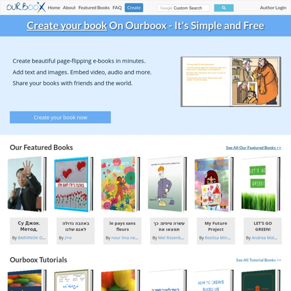 Ourboox - Create picture books online