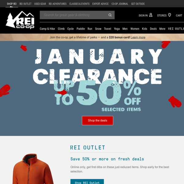 REI Anniversary Sale: Save up to 30% at our biggest sale of the year!