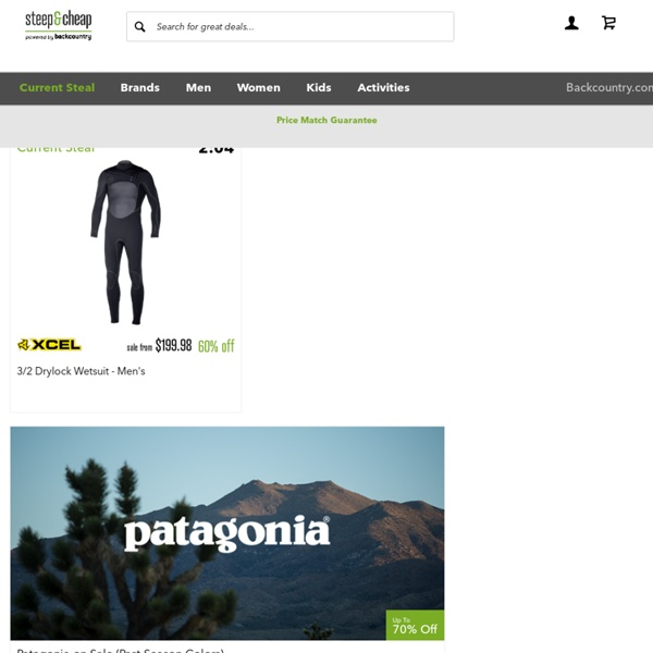 Daily Deals - Discount Outdoor Clothing & Gear