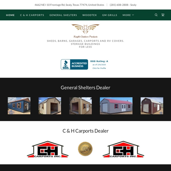 Knight Outdoor Products - Storage, Sheds, Garages, Barns, Carports and RV Covers