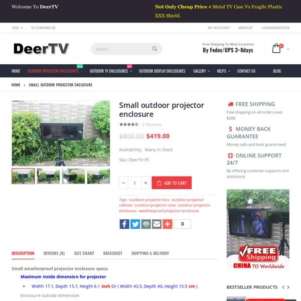 Small outdoor projector enclosure - DeerTV