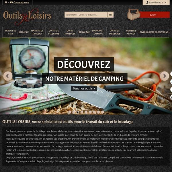 Outillage cuir, outils pour le travail du cuir, lacets et fils pour la couture du cuir : Outilsloisirs - Outils Loisirs