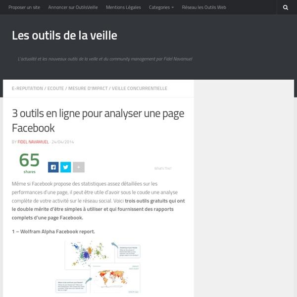 3 outils en ligne pour analyser une page Facebook