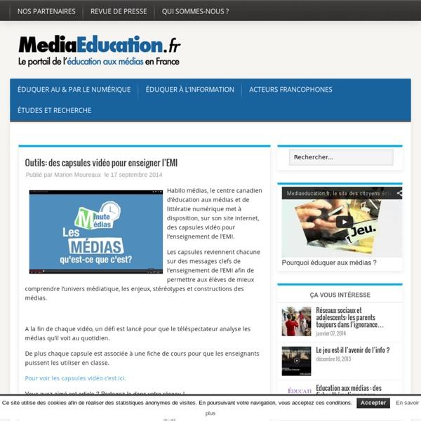Outils: des capsules vidéo pour enseigner l'EMI