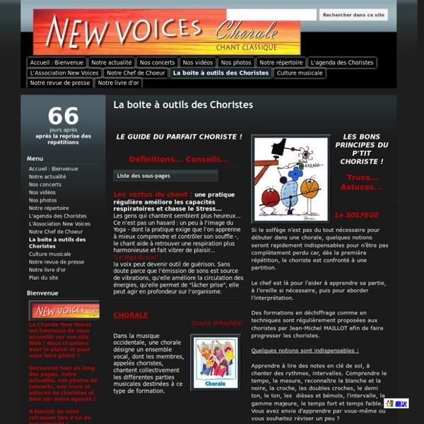 La boite à outils des Choristes - Chorale New Voices