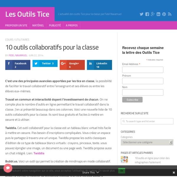 10 outils collaboratifs pour la classe