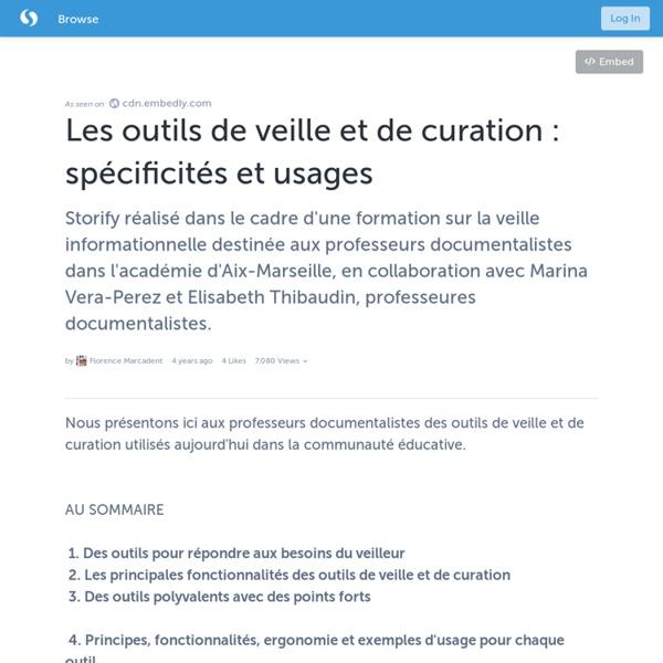 Les outils de veille et de curation : spécificités et usages · FlorenceM
