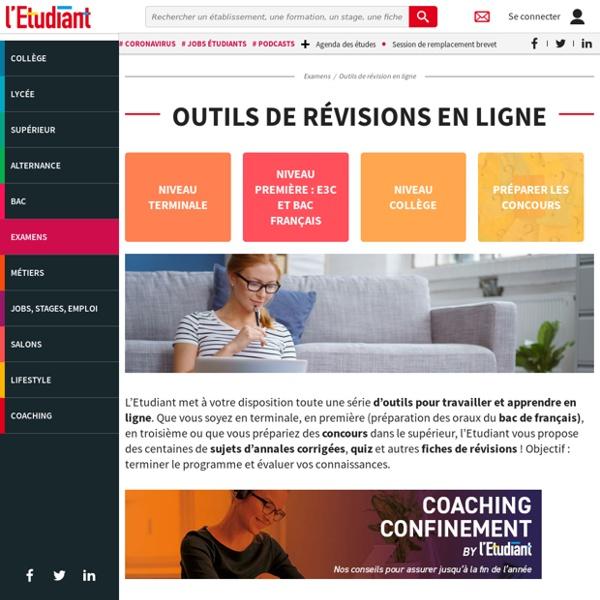 L'Etudiant : Outils de révision en ligne