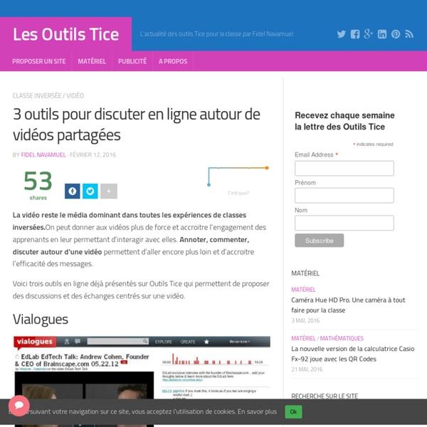 3 outils pour discuter en ligne autour de vid u00e9os partag u00e9es
