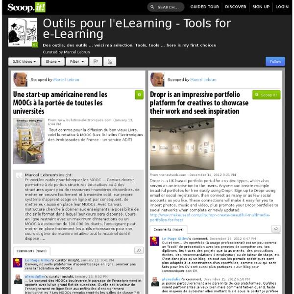 Outils Pour L'apprentissage en ligne - Outils pour l'e-Learning