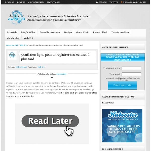 5 outils en ligne pour enregistrer ses lectures à plus tard