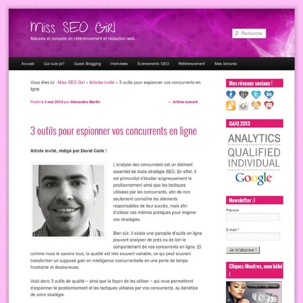 3 outils pour espionner vos concurrents en ligne